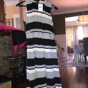 Kate spade striped tea length dress